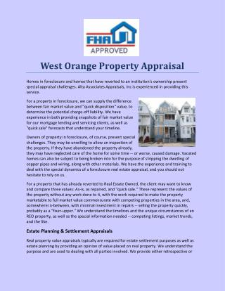 West Orange Property Appraisal