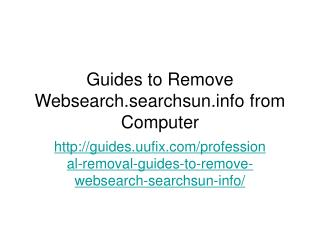 Guides to Remove Websearch.searchsun.info from Computer