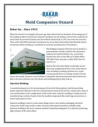 Mold Companies Oxnard