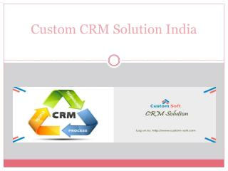 Custom CRM Development India