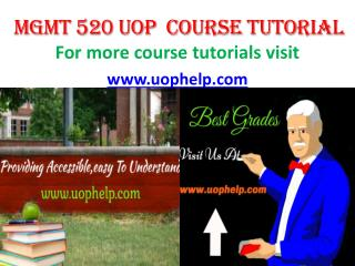 MGMT 520 ACADEMIC COACH/UOPHELP