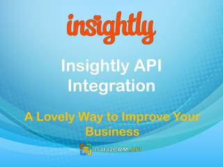 Insightly API Integration