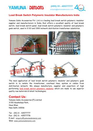 Polymeric Goab Switch Suppliers India