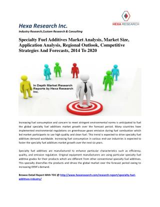 Specialty Fuel Additives Market Analysis, Market Size, Application Analysis, Regional Outlook, Competitive Strategies An