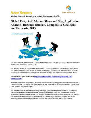 Fatty Acid market, Growth and Price  Analysis  and  Forecast  2015