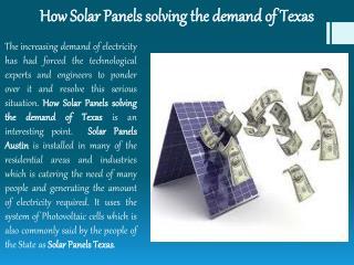 Texas Solar panels