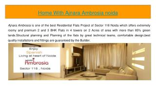 Book home with Ajnara Ambrosia