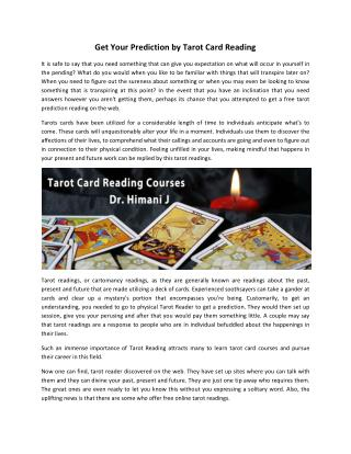 Tarot Reading Courses and Classes, Card for Love
