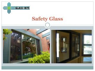 Safety Glazing