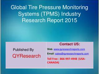 Global Tire Pressure Monitoring Systems (TPMS) Market 2015 Industry Growth, Outlook, Insights, Shares, Analysis, Study,