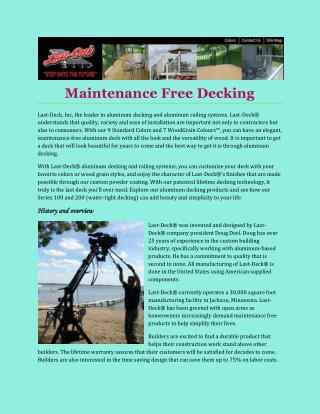 Maintenance Free Decking