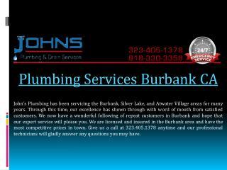 Plumbing Services Burbank CA