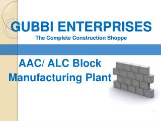AAC Block Plant Consultant