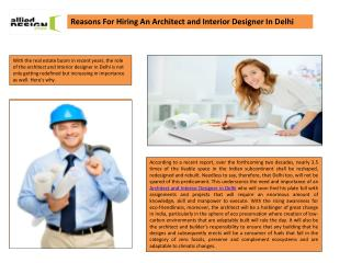 Architect and Interior Designer In Delhi, Residential Architect Designing in Delhi NCR