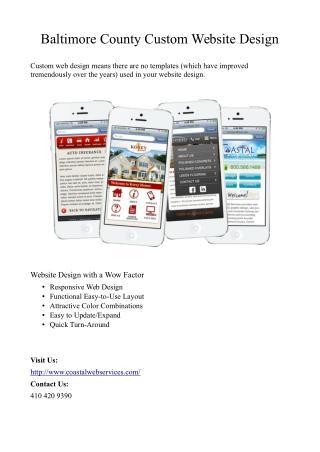 Baltimore County Custom Website Design