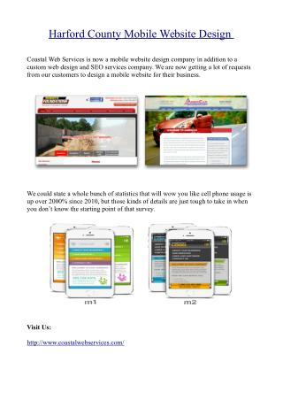 Harford County Mobile Website Design