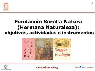 Fundaci n Sorella Natura  Hermana Naturaleza:  objetivos, actividades e instrumentos