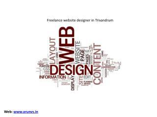 Freelance website designer in Trivandrum