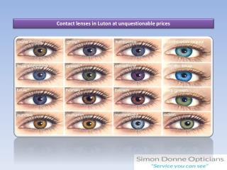 Contact lenses in Luton at unquestionable prices
