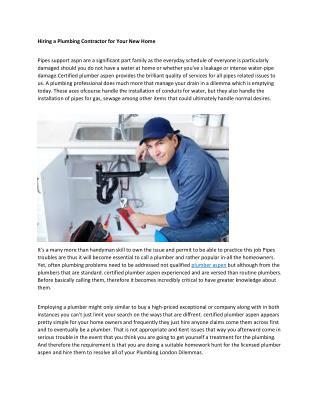 aspen plumbers