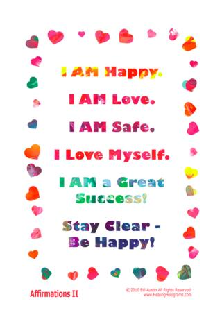 Color Healing Art Affirmations