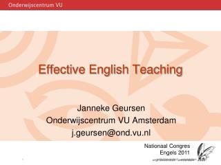 Effective English Teaching