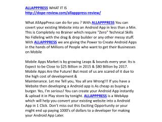 ALLAPPPRESS review and bonus
