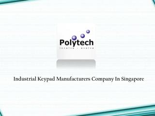 Industrial Keypad Manufacturers
