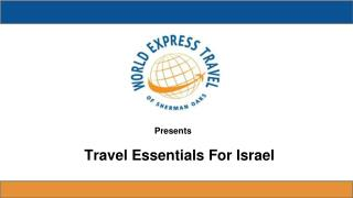 Travel Essentials For Israel