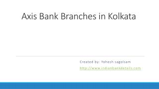 Axis bank branches in Kolkata