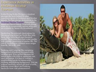 Experience Activities in Andaman Nicobar Tourism