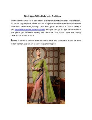Women Ethnic Wear Online