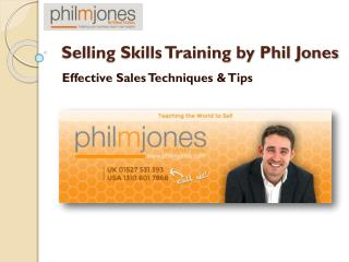 Selling Skills Training - Philmjones International