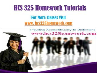HCS 325 Homework Peer Educator/hcs325homeworkdotcom