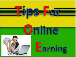 Tip for online earning