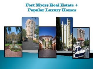 #Fort Myers Real Estate Services