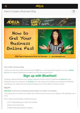 How to Create a Business Blog
