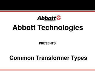 Common Transformer Types