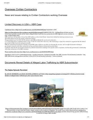 Blog 123  LOGCAP III Overseas Civilian Contractors