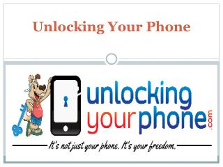 Unlocking your phone