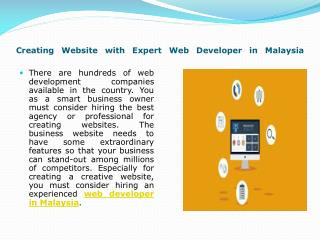 Web Developer in Malaysia