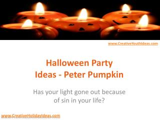 Halloween Party Ideas - Peter Pumpkin