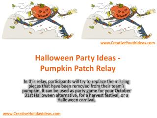 Halloween Party Ideas - Pumpkin Patch Relay