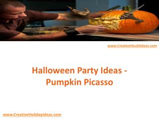 Halloween Party Ideas - Pumpkin Picasso
