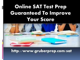 Online SAT Test Prep Guaranteed To Improve Your Score