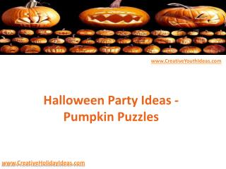 Halloween Party Ideas - Pumpkin Puzzles