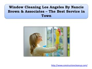 Window Cleaning Los Angeles By Nancie Brown & Associates – The Best Service in Town