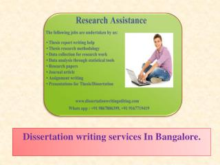 Dissertation writing services In Bangalore.