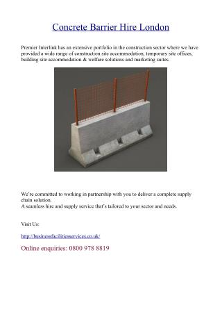 Concrete Barrier Hire London