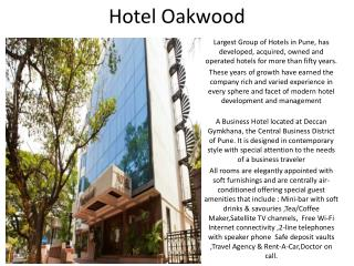 Hotel Oakwood